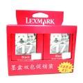 利盟(lexmark)10N0217(双包装)黑色墨盒