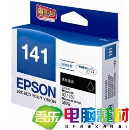 爱普生(Epson)T1411 黑色墨盒 C13T141180(适用ME33 35 330 350 560W 570W)